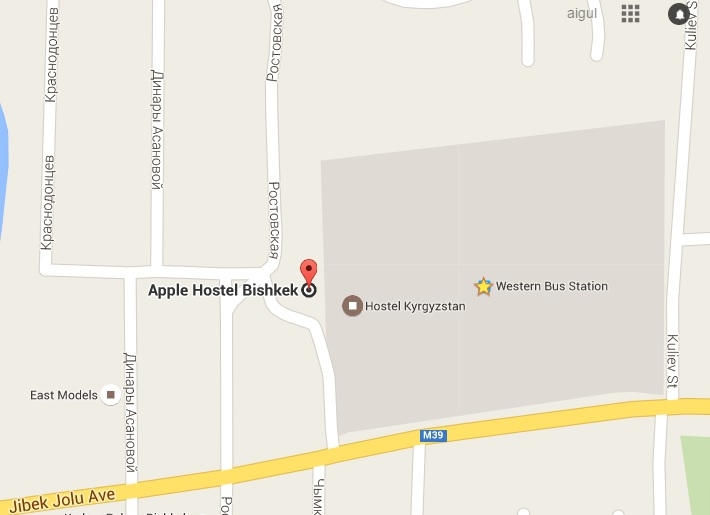 apple hostel map
