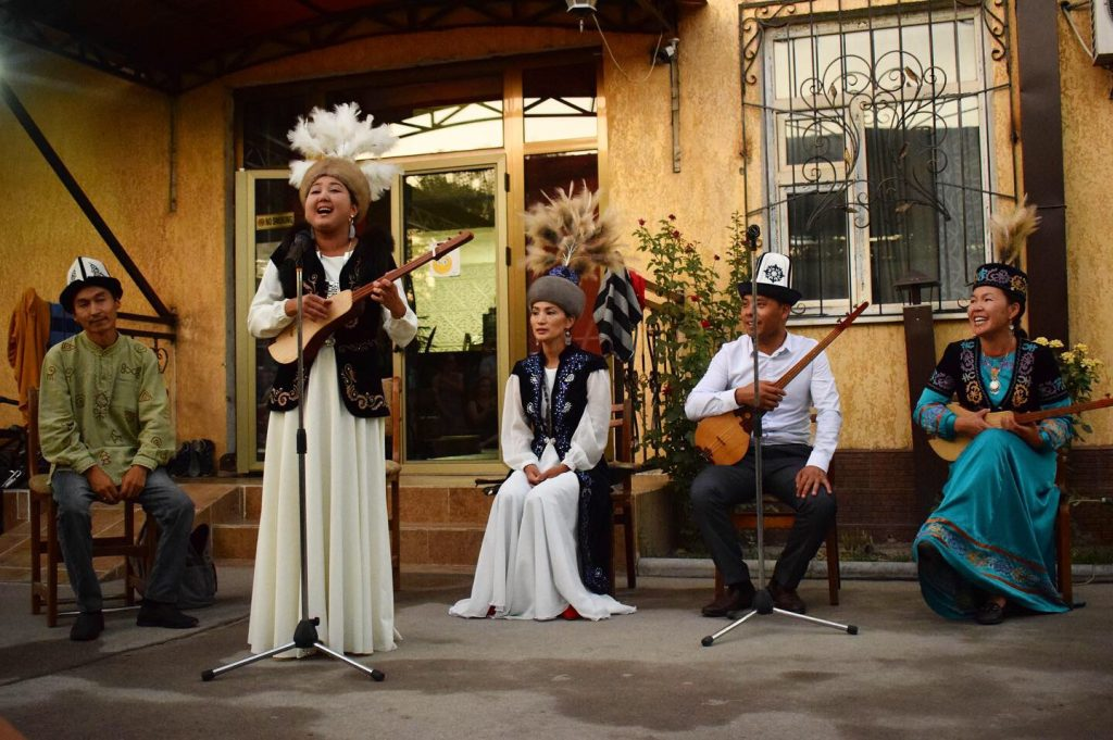 Kyrgyz folk music performance
