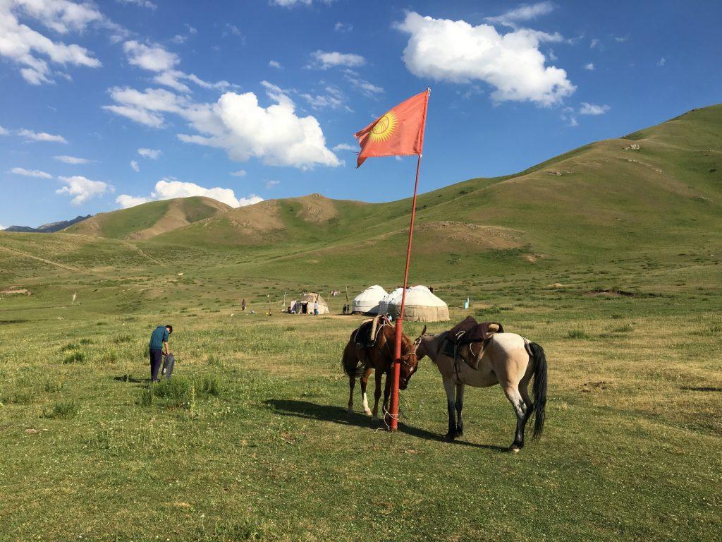 Kyrgyz landscape (Song Kol)