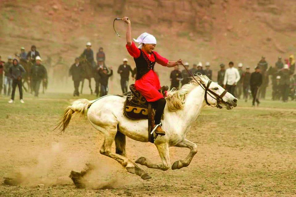 Kok Boru Kyrgyz Traditional Games Festival - Woman horse rider